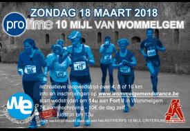 flyer 10 Mijl van Wommelgem 2018