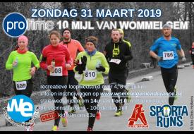 flyer 10 Mijl van Wommelgem 2019